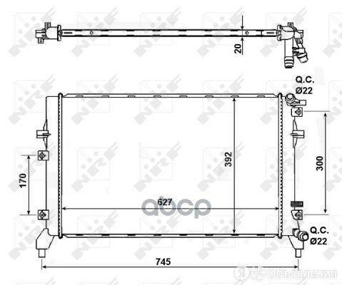 Радиатор Vw Tiguan 1.4tsi 10- NRF арт. 50148 по цене 10250₽ - Отопление и кондиционирование , фото 0