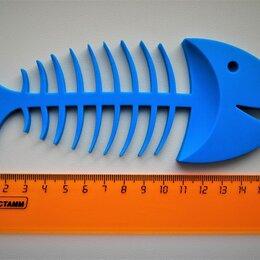 Мыльницы, стаканы и дозаторы - Мыльница рыбный скелет (силикон), 0