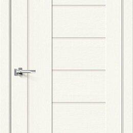 Входные двери - Межкомнатная дверь с экошпоном Браво-29 White Wood   Magic Fog, 0
