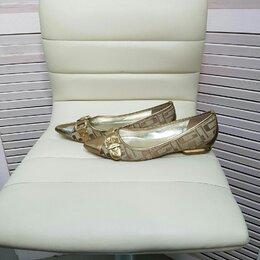 Туфли - Золотистые балетки туфли guess оригинал, 0