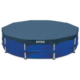 Тенты и подстилки - Тент для каркасного бассейна Metal Frame d=366 см, 28031 INTEX, 0