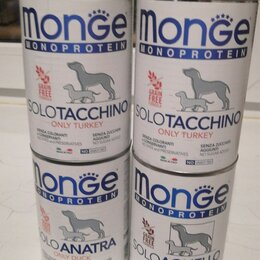 Корма  - Monge dog monoprotein solo консервы для собак паштет из курицы 400г, 0