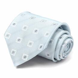 Галстуки и бабочки - Светло-голубой галстук с квадратиками Celine 63505, 0