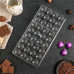 Формы для льда и десертов - Форма для шоколада 'Полусфера', 28x14 см, 36 ячеек, 0