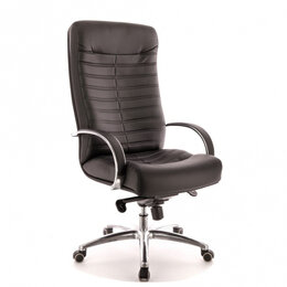 Компьютерные и письменные столы - Кресло Everprof Orion AL M Экокожа Черный, 0