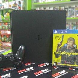 Игровые приставки - Sony PS4 Slim 1Tb+ Cyberpunk 2077, 0