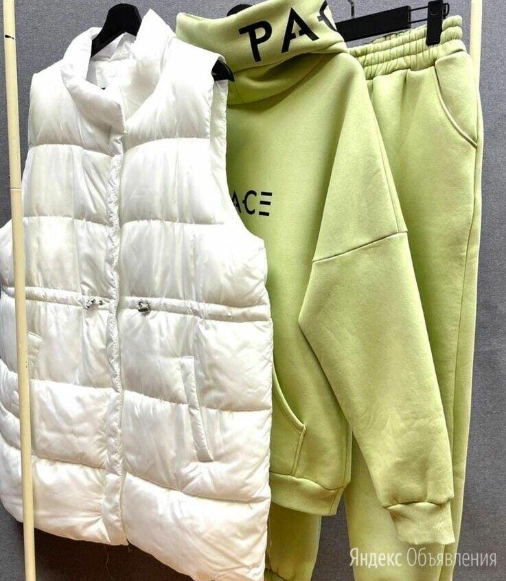 Женский тёплый спортивный костюм тройка р-ры 50-60 по цене 4890₽ - Спортивные костюмы, фото 0