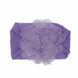Головные уборы - Повязки на голову для девочек объёмные цветы, 0