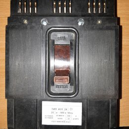 Защитная автоматика - Автоматический выключатель А3124 25А, 0
