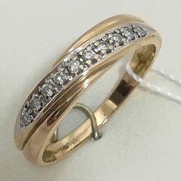 Кольца и перстни - кольцо / размер 17 / 1,93г / золото 585 / бриллианты, 0