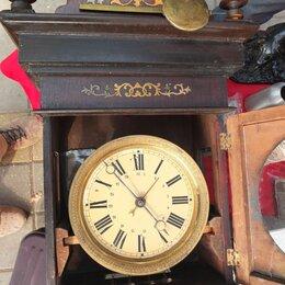 Часы настенные - часы настенные Мозер, в деревянном корпусе, царская Россия, 0