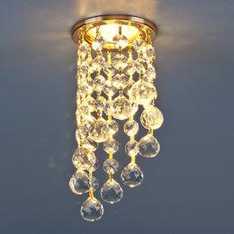 Встраиваемые светильники - Светильник точечный с хрусталем 205C C GD/WH (золото/прозрачный), 0