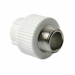 Водопроводные трубы и фитинги - Муфта полипропиленовая 20 мм-1/2 наружная резьба, 0
