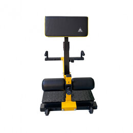 Защита и экипировка - Тренажер для приседаний / гиперэкстензия Squat Machine DFC S035YW, 0