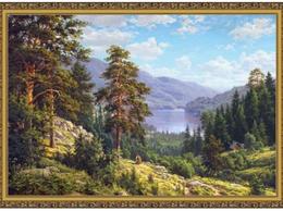 Цветы, букеты, композиции - картина в раме 60 х 100 см  С. Басов - Воспоминание о Сибири, 0