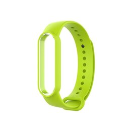 Ремешки для часов - Ремешок силиконовый для Mi Band 5 - темно - зеленый, 0
