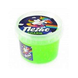Мыльные пузыри - Слайм Прихлоп пегас неоновый зеленый 90 грамм, 0
