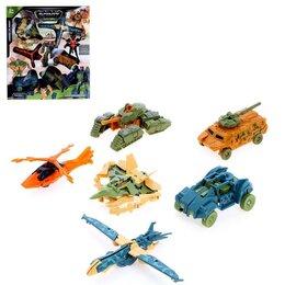 Роботы и трансформеры - Набор роботов «Военный отряд», трансформируются, МИКС, 0