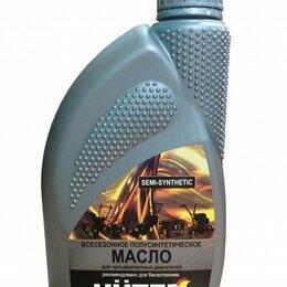Масла, технические жидкости и химия - Huter Масло 10W-40 полусинтетика для четырехтактных двигателей, 1л  Huter, 0