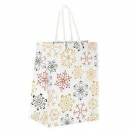 Платья и сарафаны - Пакет  бумаж/лам  17.8*22.9*9.8см, Снежинки, 0