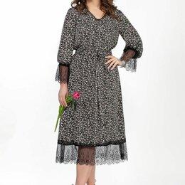 Платья - Платье 2362 TEZA рисунок на черном Модель: 2362, 0