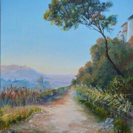Картины, постеры, гобелены, панно - Картина летний итальянский пейзаж маслом, 0