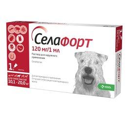 Груминг и уход - Селафорт для  собак 10,1-20 кг, 120мг/1мл, 0