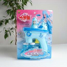 Мыльные пузыри - Генератор мыльных пузырей без батареек «Принцесса» голубой 15х5х21,5 см, 0