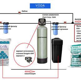 Фильтры для воды и комплектующие - Схема подключения умягчителя воды в котельной, 0