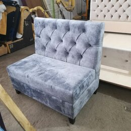 Мебель для учреждений - Модульный диванчик в каретной утяжке, 0