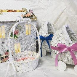 Корзины, коробки и контейнеры - Плетеные корзины декорированные, 0
