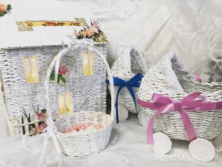 Плетеные корзины декорированные по цене 3000₽ - Корзины, коробки и контейнеры, фото 0