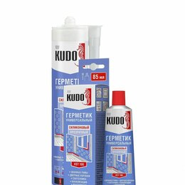 Изоляционные материалы - Герметик KUDO силикон/унивесал/прозрачн, 85мл., 0