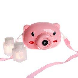 Мыльные пузыри - Генератор мыльных пузырей «Свинка» на батар. автоном 13,5×7×9 см, 0