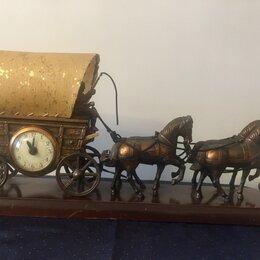 Часы настольные и каминные - Настольные часы карета, 0