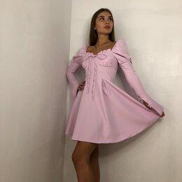 Платья - Платье сиреневого цвета, 0