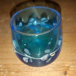 Рюмки и стопки -  Рюмка Мальцевская неваляшка. Синее стекло. Российская Империя. 19 век, 0