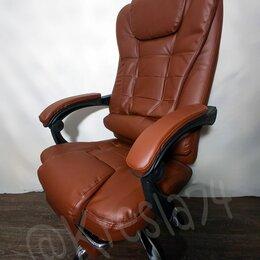 Компьютерные кресла - Компьютерное кресло с массажем и подножкой, 0