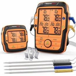 Аксессуары для грилей и мангалов - Термометр для коптильни 4 термощупа Bluetooth, 0