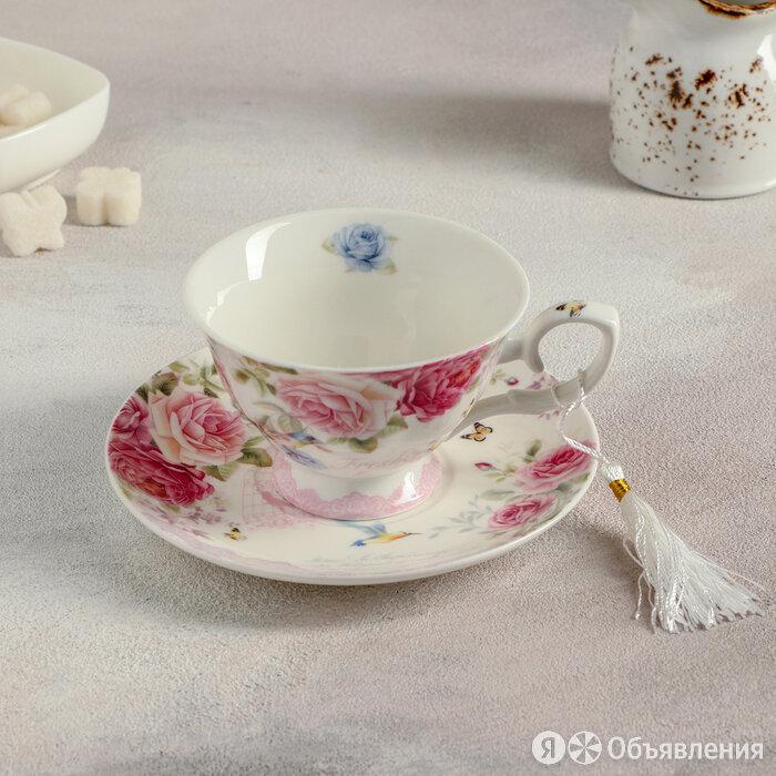 Чайная пара 'Душистая роза', 200 мл по цене 854₽ - Сервизы и наборы, фото 0
