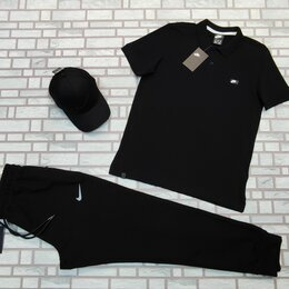 Спортивные костюмы - Комплект спортивный Поло и штаны Nike черный, 0
