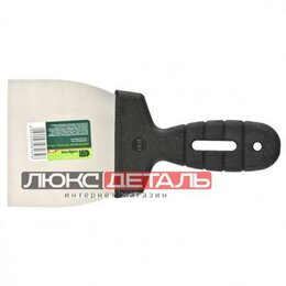 Шпатели - СИБРТЕХ 85435 85435_лопатка шпательная из нержавеющей стали, 100мм, пластмасс..., 0