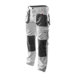 Одежда - Брюки рабочие МАЛЯРА HD series, размер 48,50,52,54,56,58/LD бело-серые Neo, 0