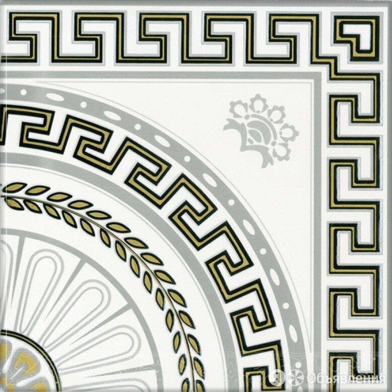 Керамическая плитка М-Квадрат Декор 352501 Цезарь Белый напольный по цене 243₽ - Керамическая плитка, фото 0