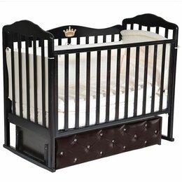 Кроватки - Детская кроватка Антел Алита 7 с мягким фасадом, 0
