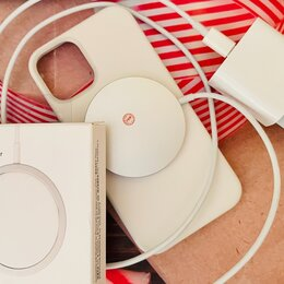 Зарядные устройства и адаптеры - MagSafe charger беспроводная зарядка, 0
