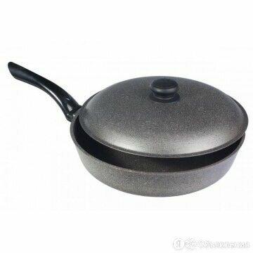 Сковорода 200 с крышкой (глубокая) (ГС20тpк) по цене 1696₽ - Сковороды и сотейники, фото 0