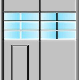 Заборы, ворота и элементы - Ворота металлические с остеклением 30%, 0