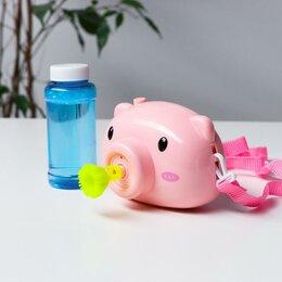 Мыльные пузыри - Генератор мыльных пузырей «Свинка» на батарейках 11х7,5х6 см, 0