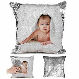 Дизайн, изготовление и реставрация товаров - Печать фото на подушках с паетками, 0